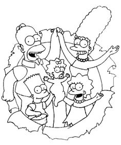 Printable The Simpsons Coloring Pages