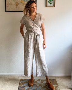 Buy the Zadie Jumpsuit sewing pattern from Paper Theory Patterns, a relaxed and easy to wear one piece with the option of wide length sleeves. Print Patterns, Sewing Patterns, Dress Patterns, Patterned Sheets, Jumpsuit Pattern, Sewing Blogs, Model Pictures, Fashion Sewing, Dressmaking