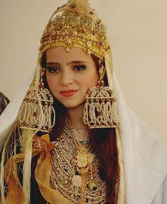 Africa | Algerian traditional wedding dress and adornment | © Lonely Planet