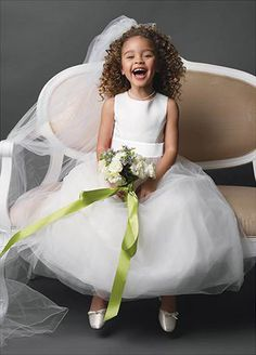 WHITE BRIDESMAID PARTY FLOWER GIRL DRESS