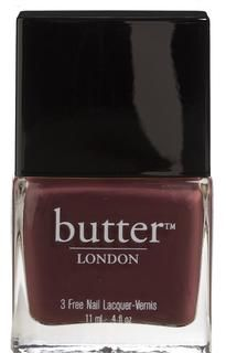 Tramp Stamp -   A dark chocolate nail lacquer. Delicious and forbidden, but not particularly sweet, like teenage English boys.