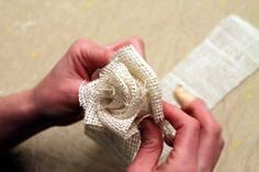 Love Love Love!  How to make 3 kinds of burlap flowers.