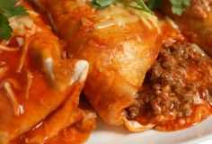 Beef Enchiladas -- Take a bite of authentic Mexican food with Las Palmas - Find the complete recipe at laspalmassauces.com #LasPalmas #enchiladas #recipe