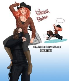 Bucky and Natasha fanart. :P
