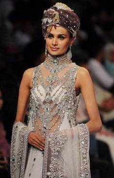 This would count as jewelry... right?!?! Pakistan Fashion Week in Karachi