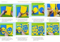 Omgekeerde wereld - grafiek | lesidee | groep 5-6 | Laat maar Leren Projects For Kids, Crafts For Kids, Arts And Crafts, Summer Camp Art, D School, Symmetry Art, Art Handouts, Online Art Classes, 4th Grade Art