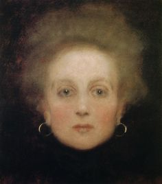 Gustav Klimt  Face of a Girl, c. 1898, oil on cardboard, 38 x 34 cm, private collection.