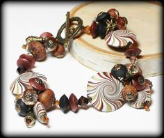 Driftwood... Handmade Jewelry Bracelet Beaded Cha by Fanceethat