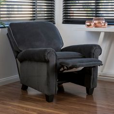 Dallon Fabric Recliner Club Chair by Christopher Knight Home (Charcoal), Grey