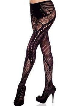 289b01ca895e9 With a leg up on fetching looks, these lacy tights bring sultry flair to  any ensemble.