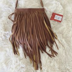 NWT MERONA FAUX LEATHER FRINGE PURSE New! Comes down to right below my below my hip (I'm 5'4) Merona Bags Shoulder Bags