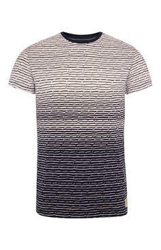 Black Jacquard Graded T-Shirt