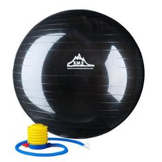 Black Mountain Products 2000-Pound Anti Burst Exercise Stability Ball with Pump, 85cm, Black