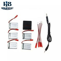 16.39$  Buy now - http://alimms.shopchina.info/go.php?t=32791735119 - 5PCS 3.7V 750mAh Battery 5 in1 Charger For RC Quadcopter Drone MJX X300C X400 Spare Parts Batteries Replacements Set  #buymethat