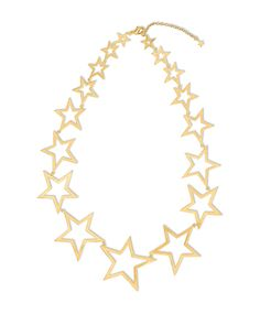 Gold Star Statement Necklace - JewelMint