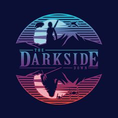 The Darkside Down is sold by Pampling for plus shipping. Day of the Shirt collects daily and weekly t-shirt sales from across the Internet and aggregates them all in one place. Day Of The Shirt, S Girls, Screen Printing, Star Wars, Logos, Artist, T Shirt, Awesome Stuff, Video Games