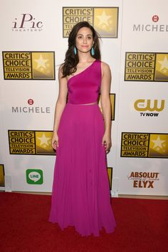 Emmy Rossum Photos: Arrivals at the Critics' Choice Television Awards