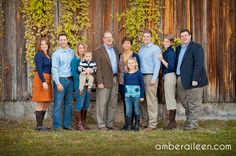 Large Family photo.  Good example of gray, brown, any, and white.  (Ignore the orange)
