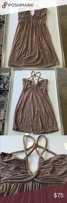 Sky snake detail taupe mini summer dress medium Sky snake detail taupe mini summer dress medium new without tags Sky Dresses Mini