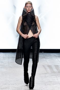 Cage Jacket with graphic silhouette; futuristic fashion armour // Gareth Pugh SS12