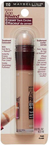 MAYBELLINE Instant Age Rewind Eraser Dark Circles Treatment Concealer 110 Fair *** Click on the image for additional details.