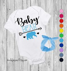 Baby Bear Baby Bodysuit with Matching Headband Option By UncleJesses Clothing  Unisex Kids' Clothing  Bodysuits  brand sparkling new  new mom gift  baby swag  baby shower gift  for baby girl man cub  mama bear papa bear  gender reveal gift  cute baby gift  little man  funny baby gift  unisex baby  be brave