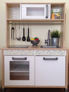 Ikea Duktig - Adding a personal touch to the Ikea play kitchen.