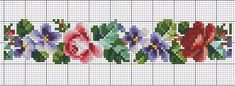 Cross Stitch Pattern Maker, Easy Cross Stitch Patterns, Simple Cross Stitch, Cross Stitch Borders, Cross Stitch Rose, Bead Loom Patterns, Cross Stitch Flowers, Cross Stitch Designs, Flower Patterns