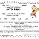 FREE At-Home Notes for extra help with Patterning