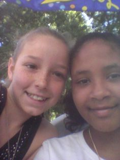 Me and my best friend at my birthday party