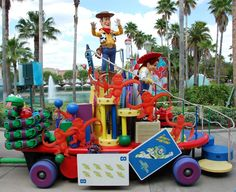 Toy Story Float in the Block Party Bash Parade (retired in 2011) at Disney's Hollywood Studios / Walt Disney World Resort - Florida. This parade ran from March 14, 2008 – January 1, 2011. #ToyStory