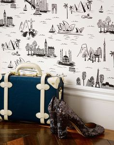 Cities Toile wallpaper (Rifle Paper Co x Hygge & West)