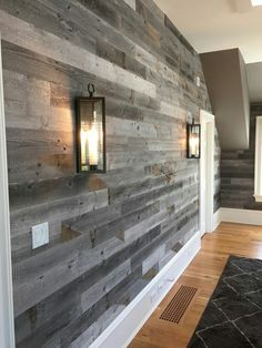 Weathered Wood Stikwood Peel and Stick Wood Wall! Compliments of: Just WallsStikwood Peel and Stick Wood Wall! Compliments of: Just Walls Stick On Wood Wall, Peel And Stick Wood, Faux Wood Wall, Wood Wall Decor, Distressed Wood Wall, Faux Walls, Brick Wall, Pallet Walls, Wooden Walls
