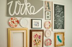 Domestic Fashionista: Colorful Dining Room Gallery Wall