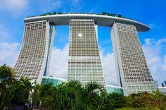 Das berühmte Marina Bay Hotel von hinten