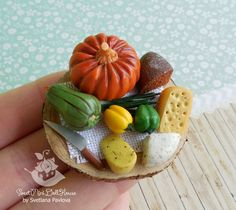 A set of miniature Cheeses and vegetables  от SweetMiniDollHouse