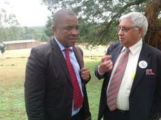 Your Worship, the Mayor of uMGungundlovu District Municipality, Cllr Y Bhamjee with uMDM Municipal Manager, the inimitable Sibusiso Khuzwayo