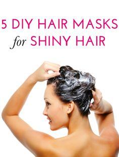 5 easy hair masks for shiny, healthy hair