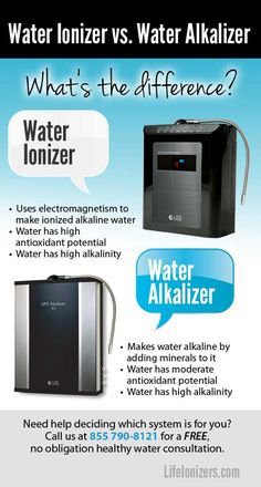 Read about the differences between a water ionizer and a water alkalizer and find out which one is best for you! Make Alkaline Water, Water Ionizer, Ozone Generator, Superfoods, Wellness, Reading, Random, Health, Kitchen