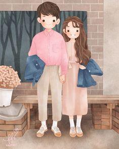 Drawing Cartoon Faces, Cute Bear Drawings, Family Illustration, Character Illustration, Cute Love Cartoons, Cute Cartoon, Character Design Animation, Character Art, Cute Couple Art