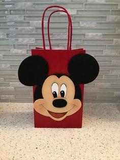 Artículos similares a Bolsa Mickey Mouse favor en Etsy