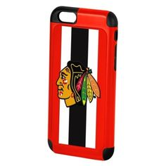 Chicago Blackhawks Rugged Dual Hybrid TPU iPhone 6 Hard + Soft Case Shell by Forever Collectibles $18.95  #ChicagoBlackhawks