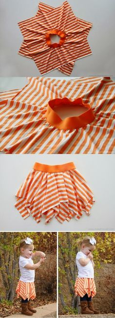 Recycling Make a Square circle skirt