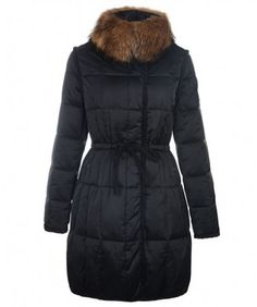 Moncler For Women Coat Euramerican Style Long Black www.onlakemac.com