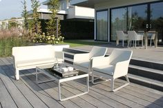 Loungeset Breeze - Wit - Passion Outdoor Living - Loungeset - Tuinmeubelen