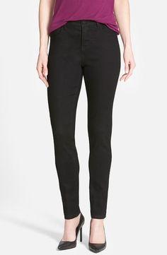 Wit & Wisdom Black Super Smooth Stretch Denim Jeggings Jeans sz 4 FTC #3349