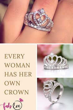 ab5bfc50d Every Woman Has Her Own Crown #crownring #crown #ring #jewelry Queen Crown