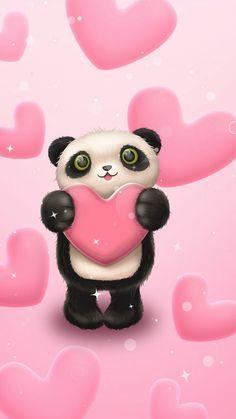 Fairy Wallpaper, Cute Wallpaper Backgrounds, Love Wallpaper, Panda Wallpapers, Cute Cartoon Wallpapers, Happy Face Images, Wallpaper Fofos, Cute Bear Drawings, Cute Panda Wallpaper