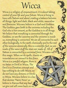 I chose this because it describes Wicca in a summary. I see Wicca as a form of feminism because of religious freedom, based on ones own interpretation. I think about how women used religion to as a way to deal with sexism in their everyday lives without o Wiccan Witch, Wicca Witchcraft, Wiccan Books, Magick Book, Green Witchcraft, Witch Board, Baby Witch, Witch Spell, Moon Witch