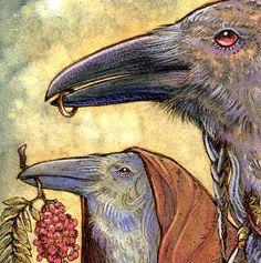 DRIEVOUDIGE godin ↠ generaties - Keltische Raven sjamaan Keltische Crow Ring Jewelry Rowan steen Maagd moeder Crone Art Print door SigiDawn op Etsy https://www.etsy.com/nl/listing/98435042/drievoudige-godin-generaties-keltische